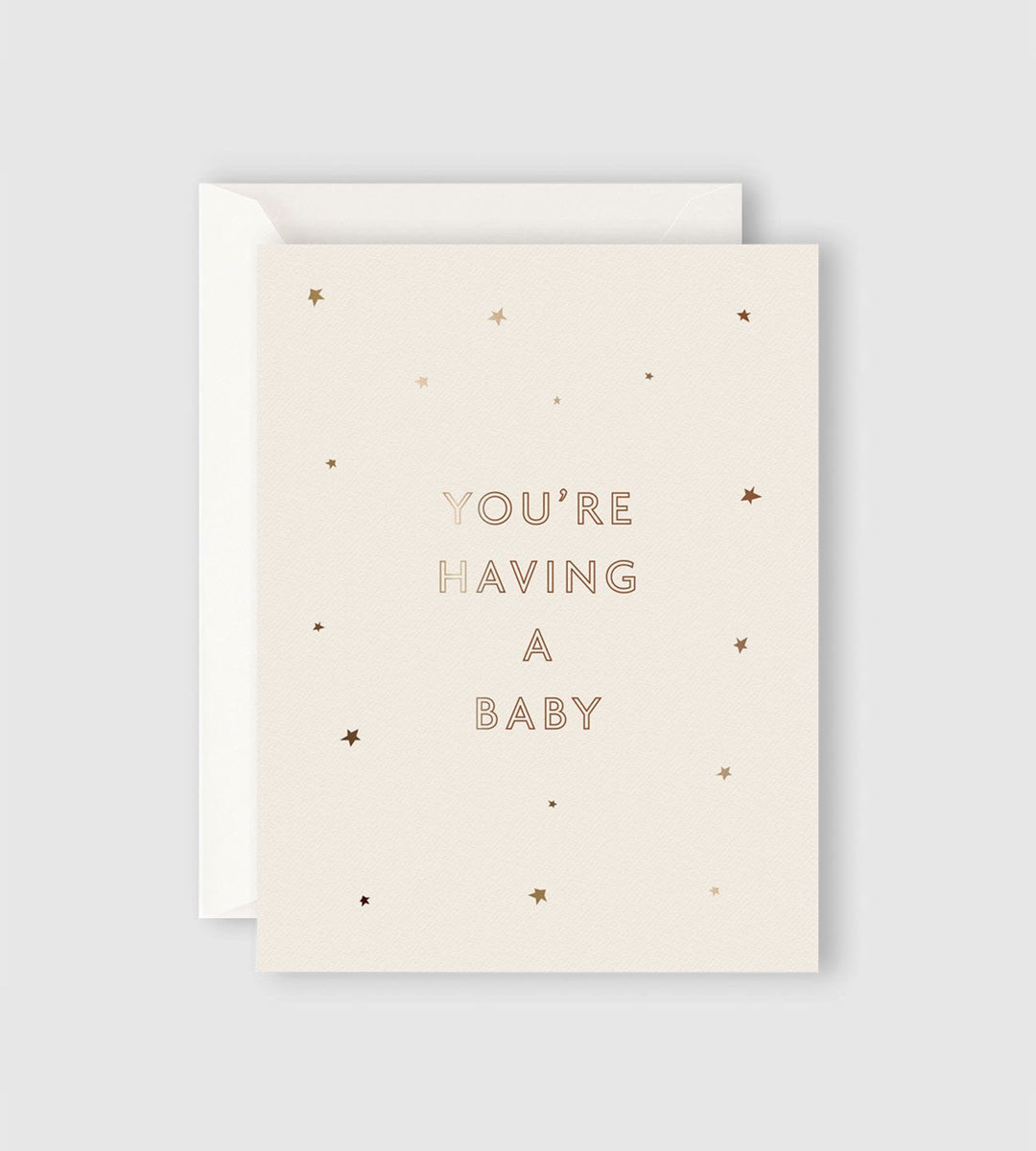 Father Rabbit Stationery Starry You're Having a Baby Card