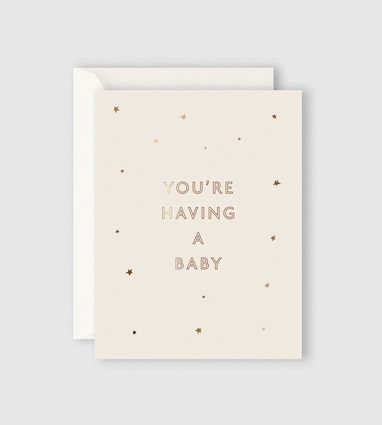 Father Rabbit Stationery | Starry You're Having a Baby Card