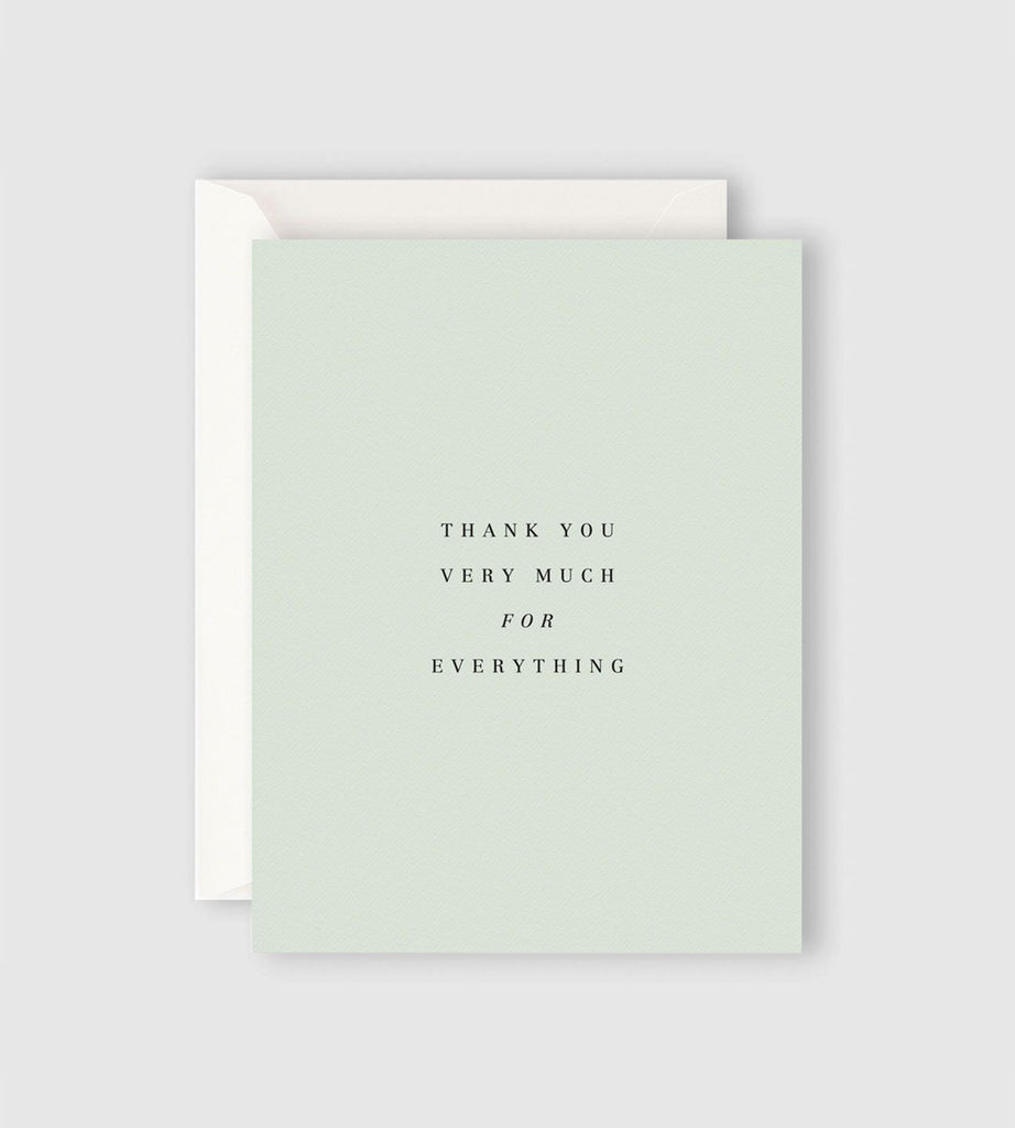 Father Rabbit Stationery | Thank You Very Much for Everything Card