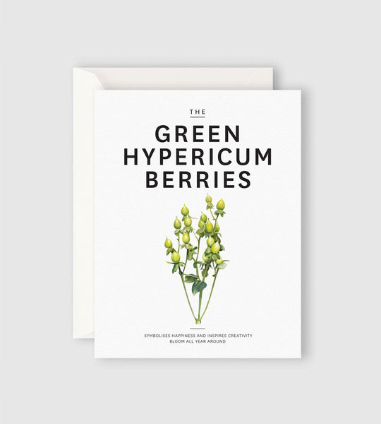 Father Rabbit Stationery | The Green Hypericum Berries Card