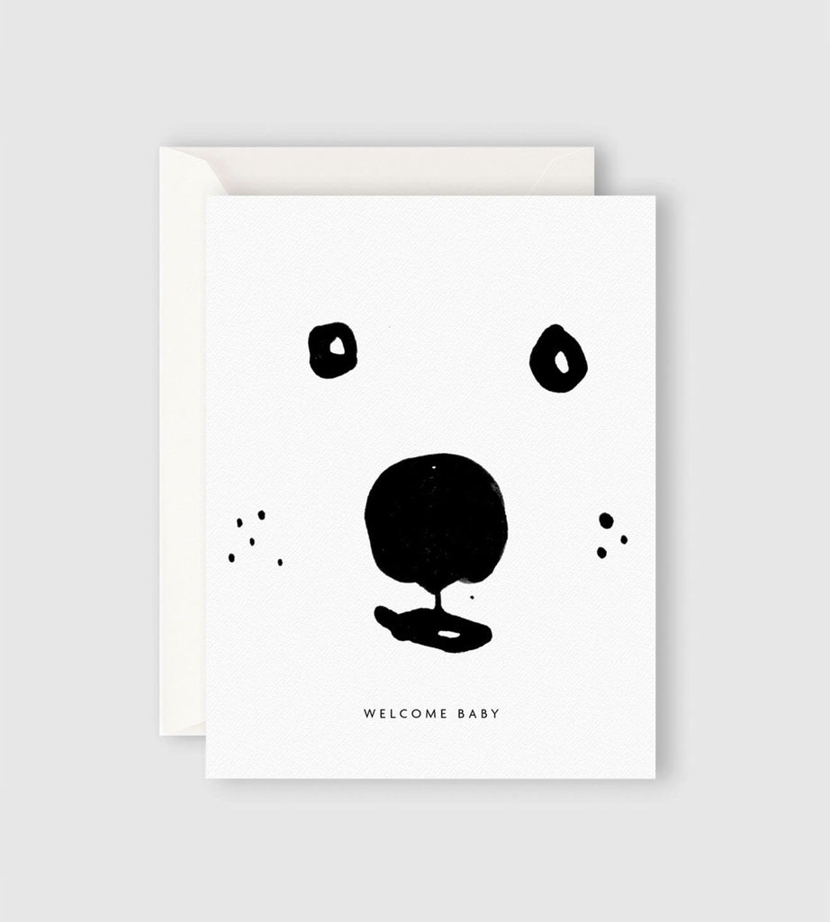 Father Rabbit Stationery | Welcome Baby Bear Card