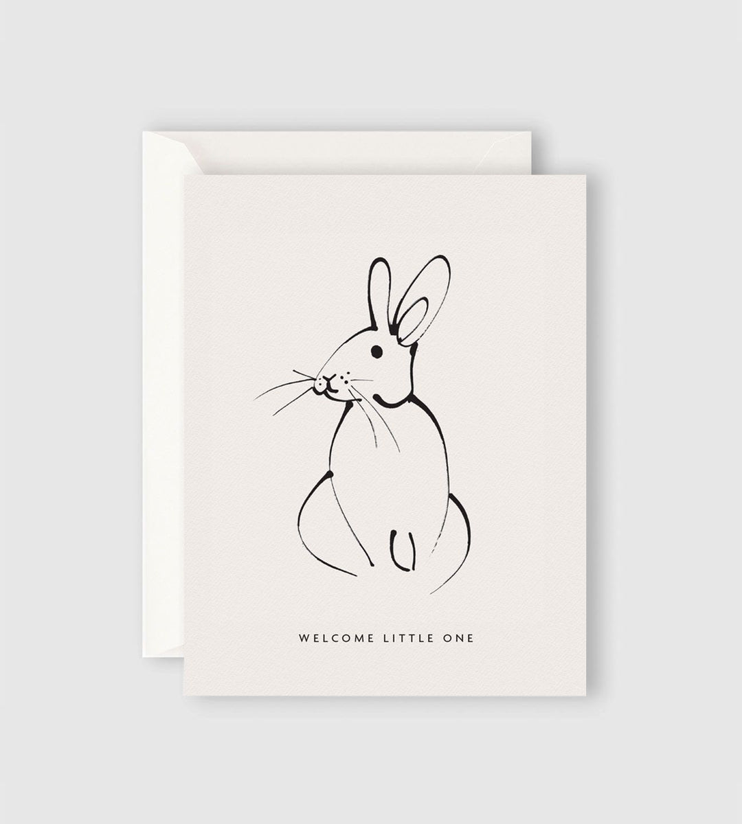 Father Rabbit Stationery | Welcome Little One Rabbit Card