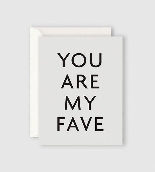 Father Rabbit Stationery | You Are My Fave Card