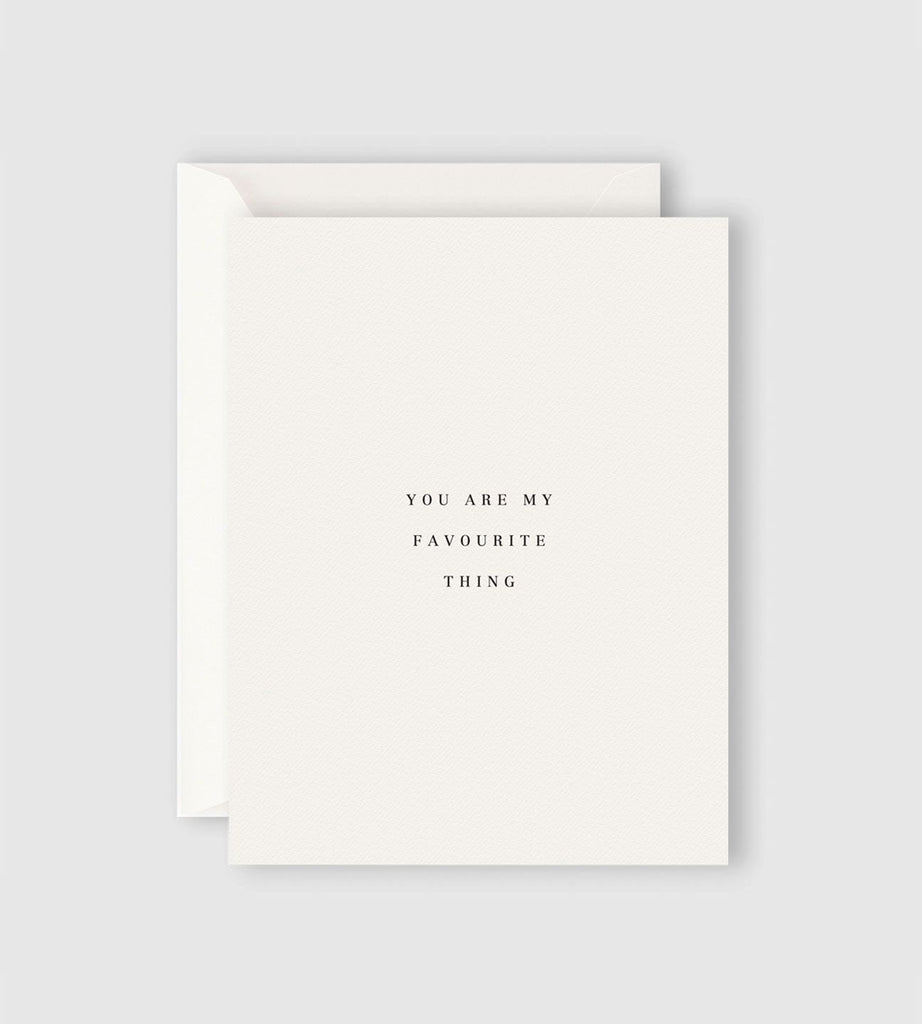 Father Rabbit Stationery | You Are My Favourite Thing Card