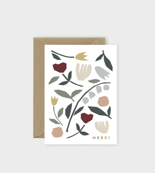 Michoucas Design | Folk Flowers Card