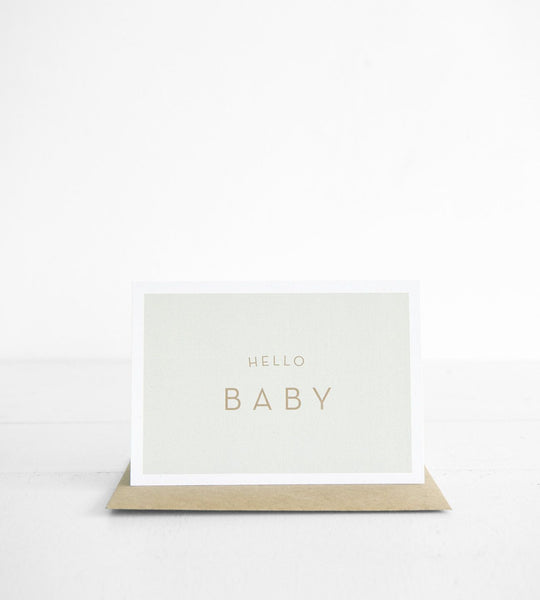 Michoucas Design | Hello Baby Card