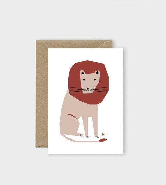 Michoucas Design | Hi Lion Card