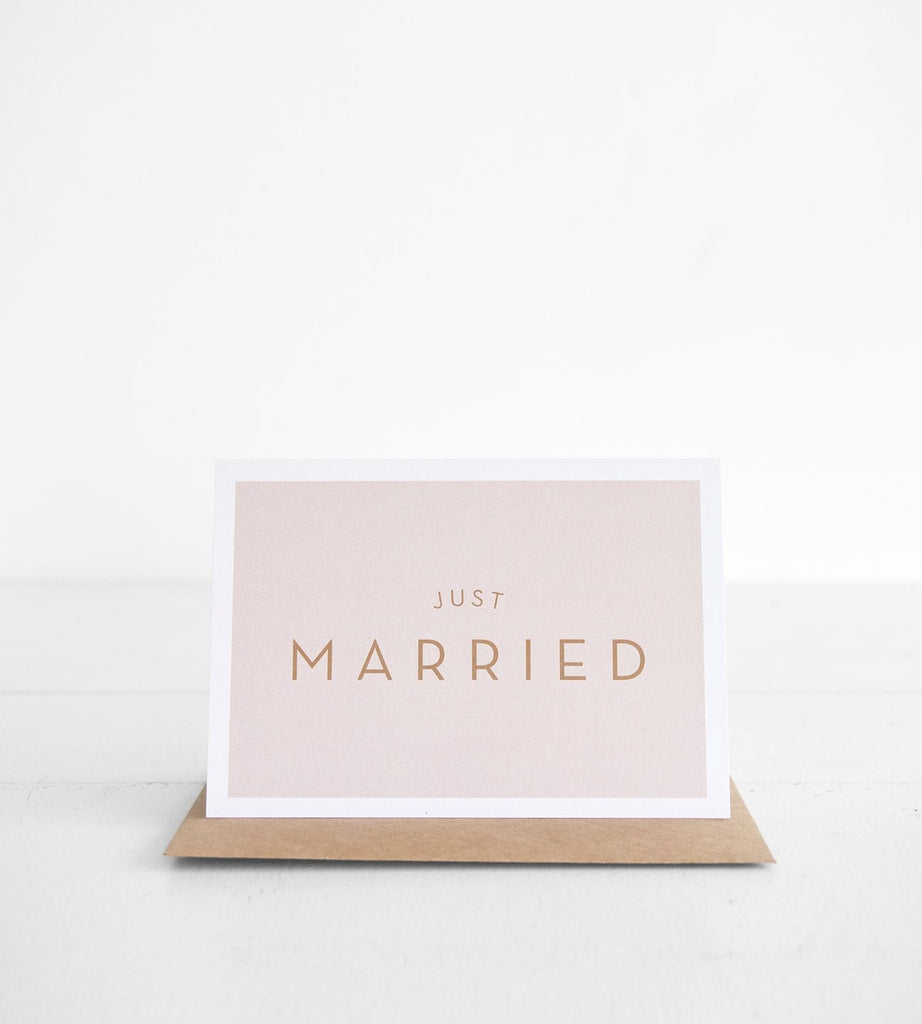 Michoucas Design | Just Married Card