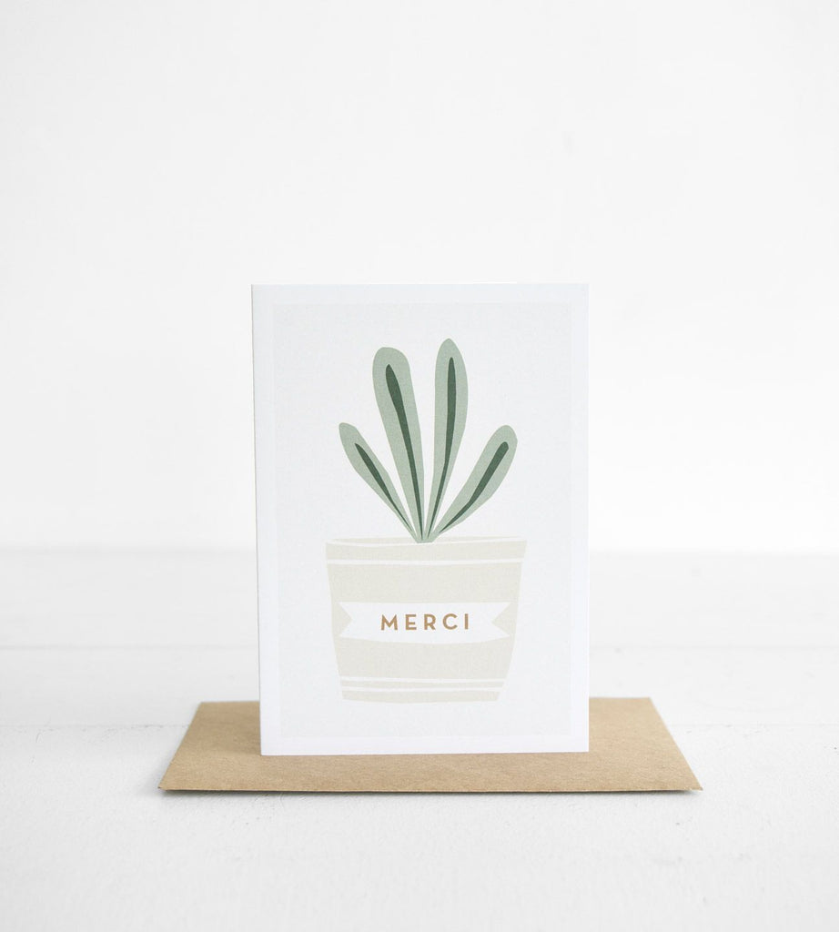 Michoucas Design | Merci P. La Plante Thank You Card