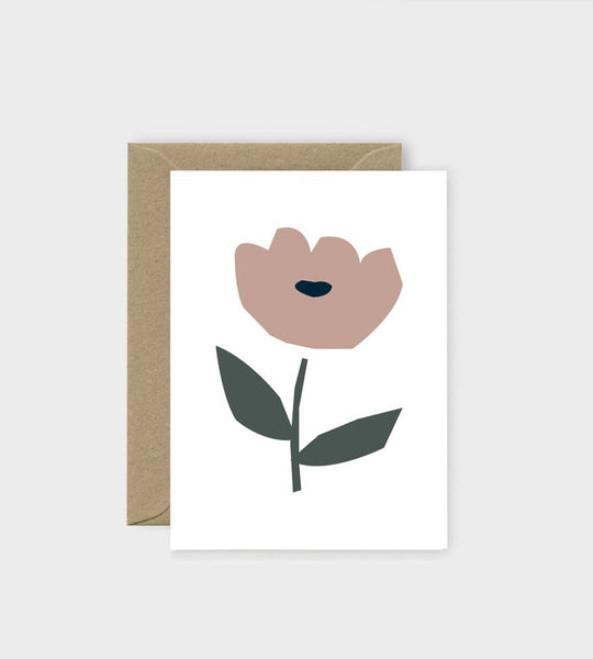 Michoucas Design | Rose Trémière Card