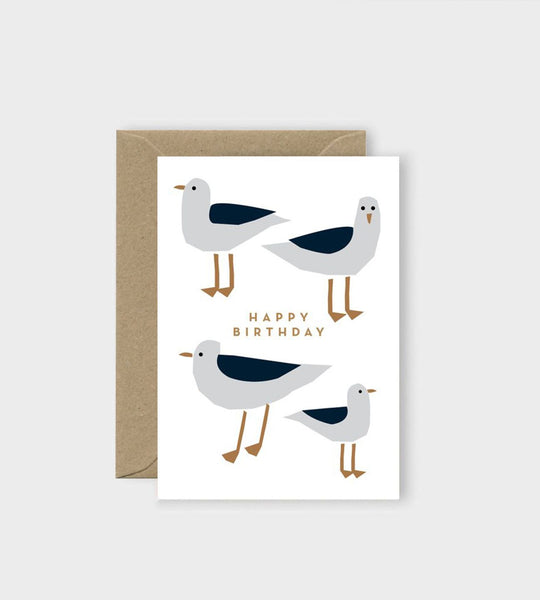 Michoucas Design | Seagulls Birthday Card