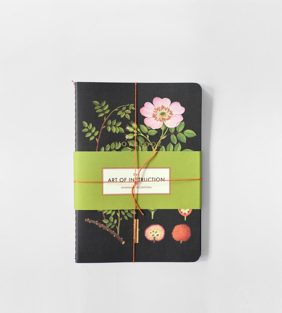 The Art of Instruction Notebook Collection | Botanical Set of 3