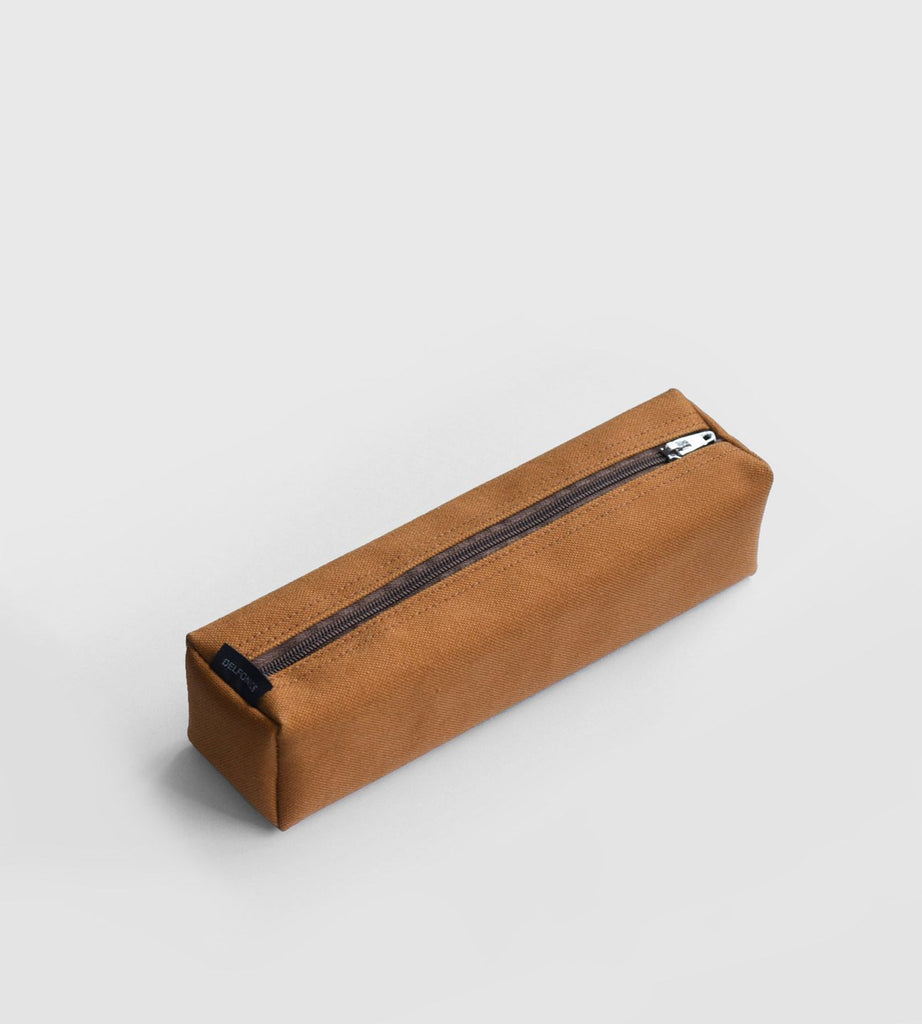 Delfonics | Marek Canvas Box Pencil Case | Light Brown