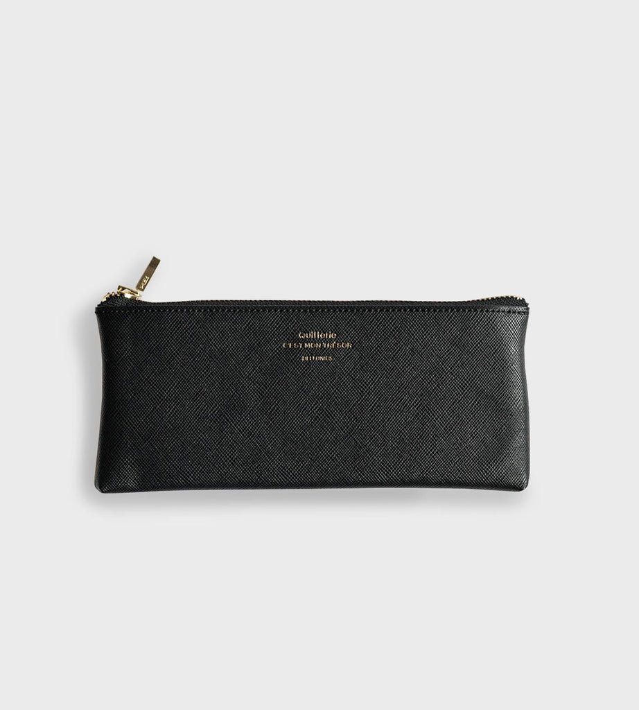 Delfonics | Quitterie Flat Pencil Case | Black
