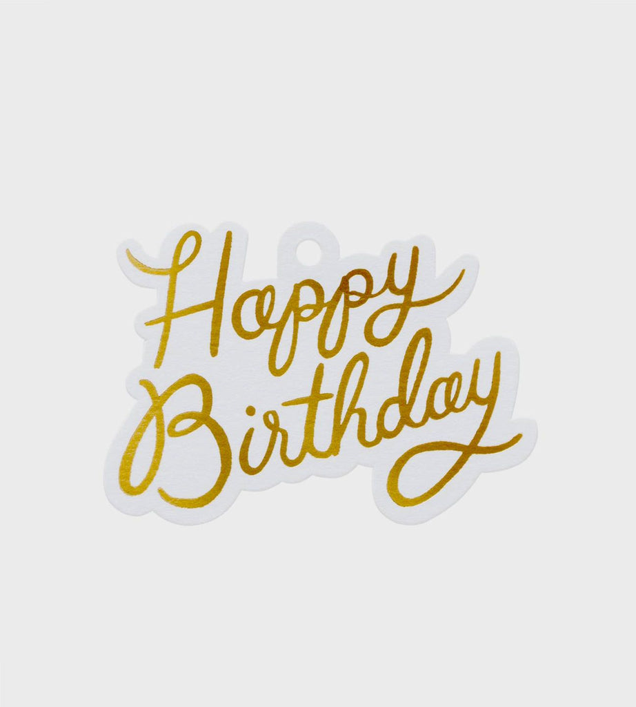 Rifle Paper Co. | Die Cut Gift Tags | Happy Birthday