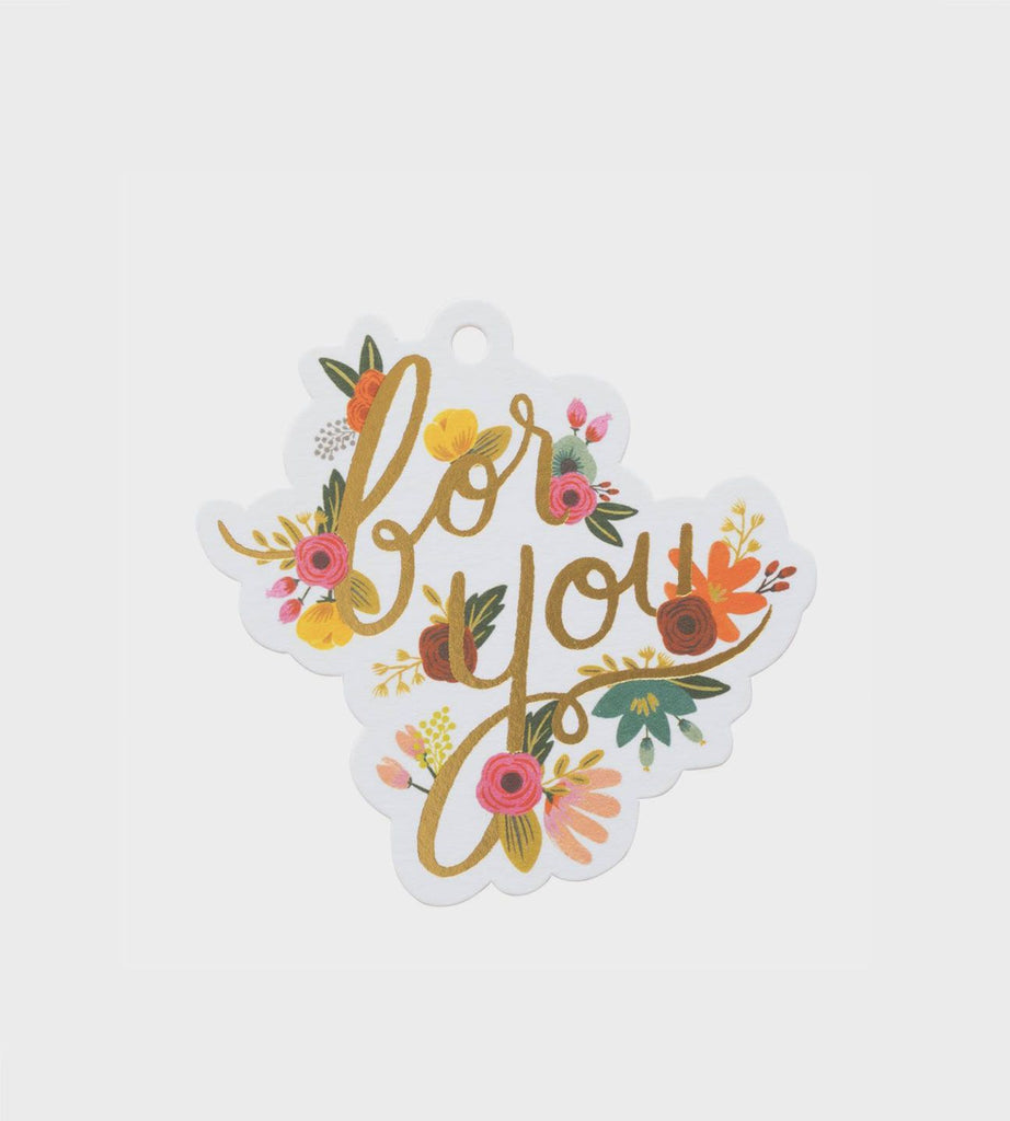 Rifle Paper Co. Die Cut Gift Tags Mint Floral