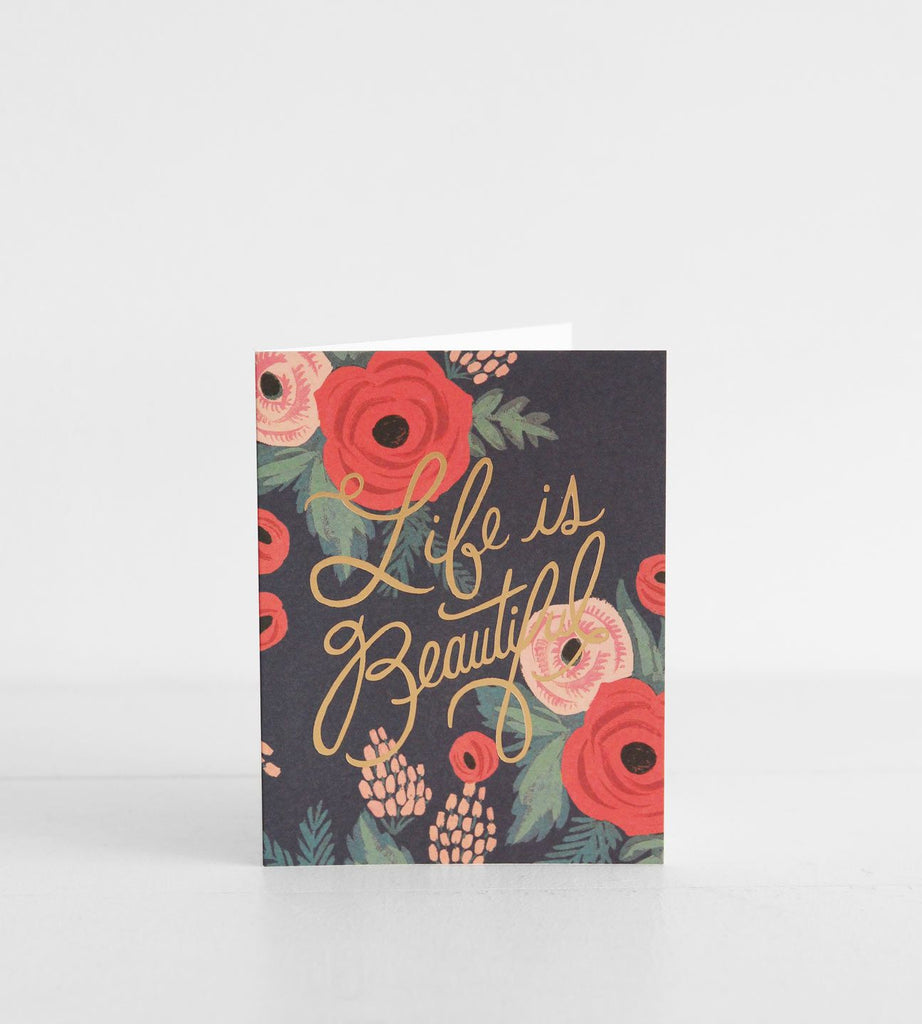 Rifle Paper Co. | Life Is Beautiful Card