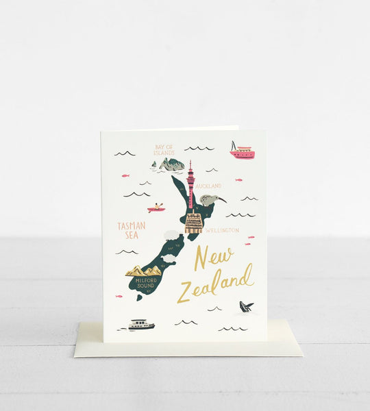 Rifle Paper Co. | Map of New Zealand Card