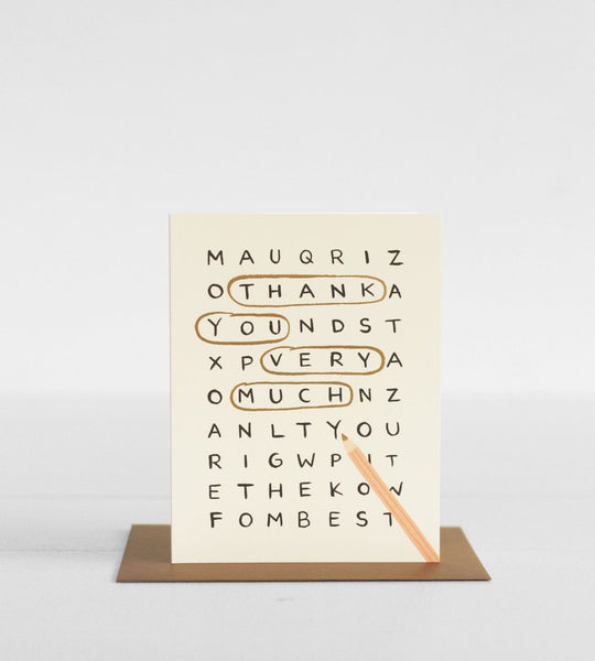 Rifle Paper Co. | Wordsearch Thank You Card