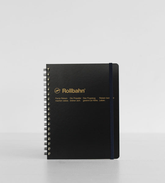 Delfonics | Rollbahn Notebook | Black | Grid