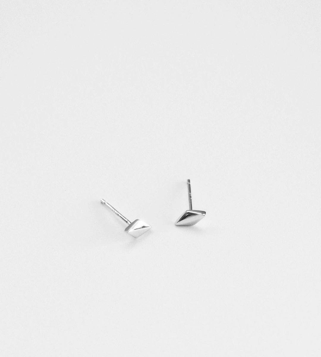 Sophie | Diamond Stud Earrings | Silver