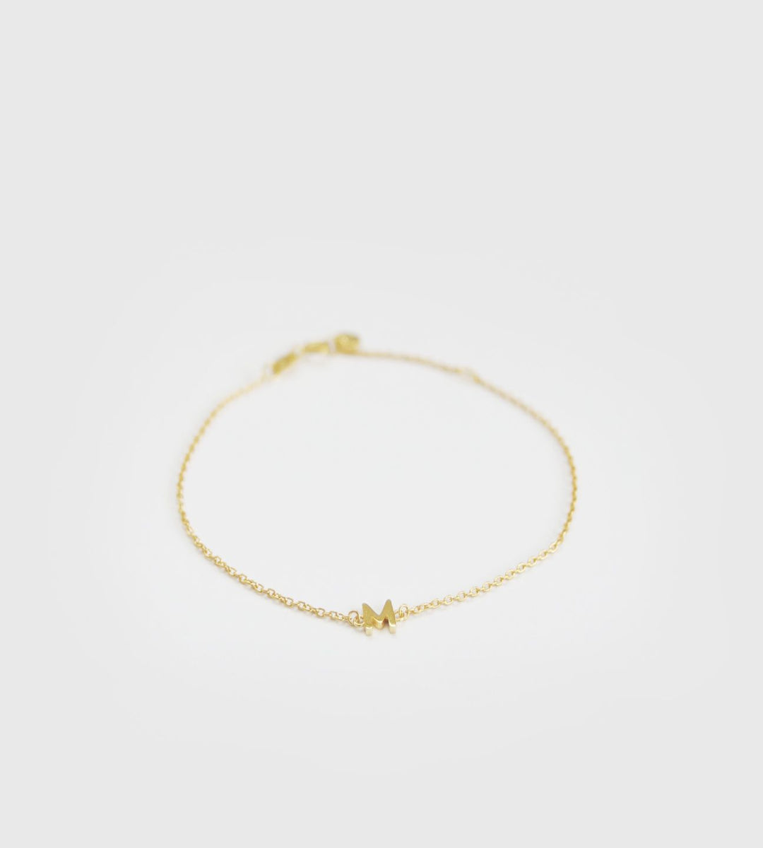 Sophie Little Letter Bracelet Gold