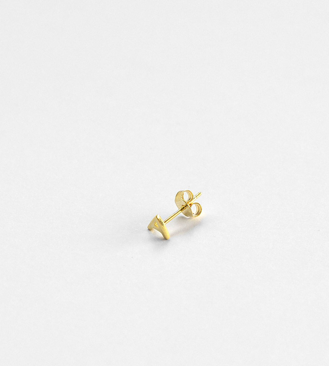 Sophie Little Letter Earrings Gold