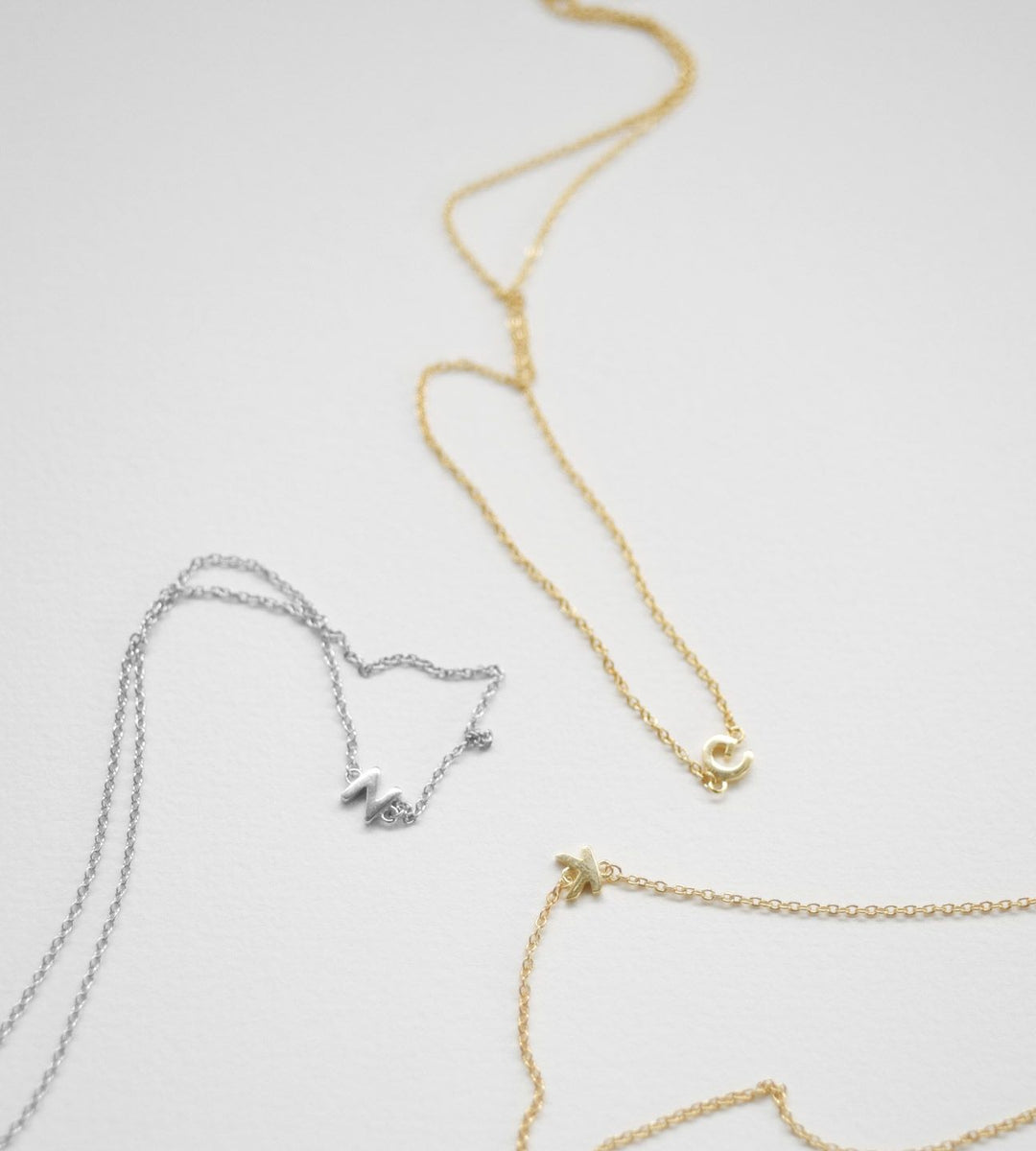 Sophie Little Letter Necklace Gold