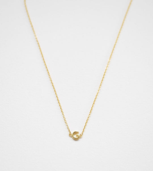 Sophie | Little Letter Necklace | Gold