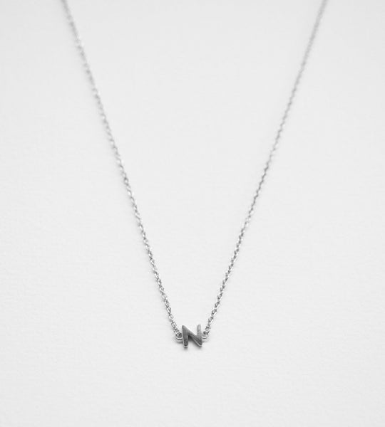 Sophie Little Letter Necklace Sterling Silver