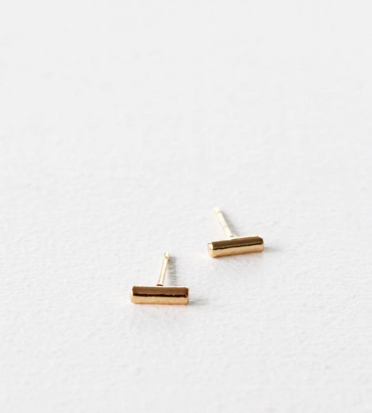 Sophie | Mini Bar Earrings | Gold