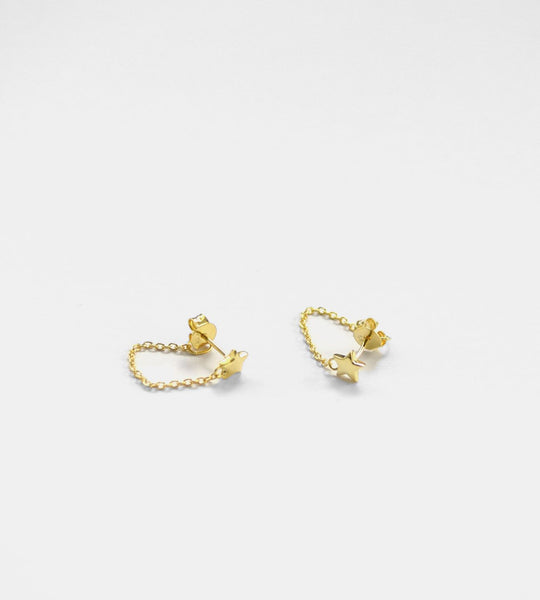 Sophie | Twinkle Chain Stud Earrings | Gold