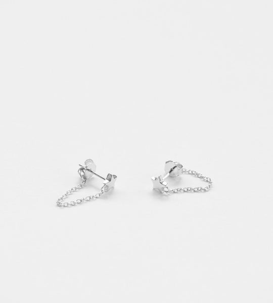 Sophie | Twinkle Chain Stud Earrings | Silver