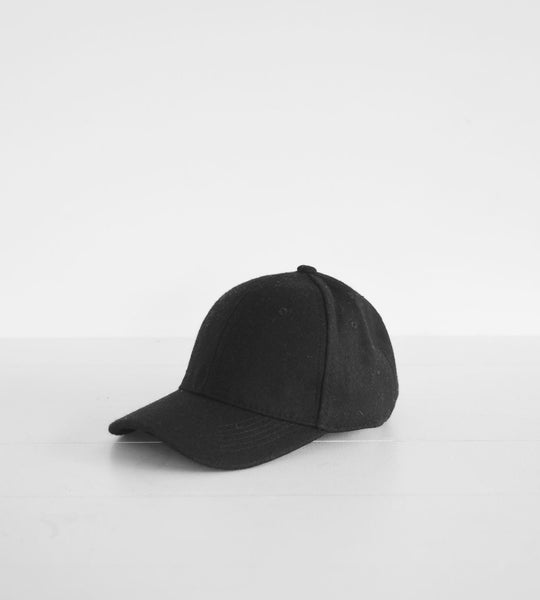 Sophie | Wool Cap | Black