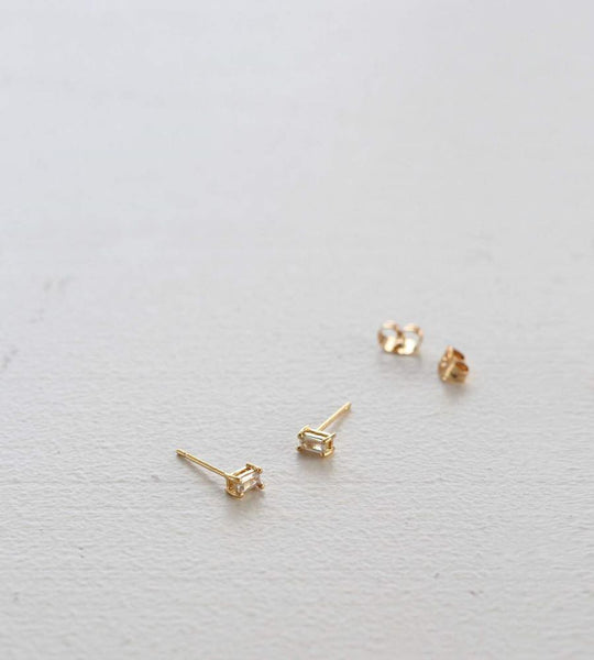 Sophie | You Rock Earrings Rectangle | Gold
