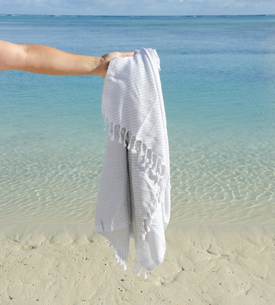 Father Rabbit Goods Turkish Towel Riviera Stripe