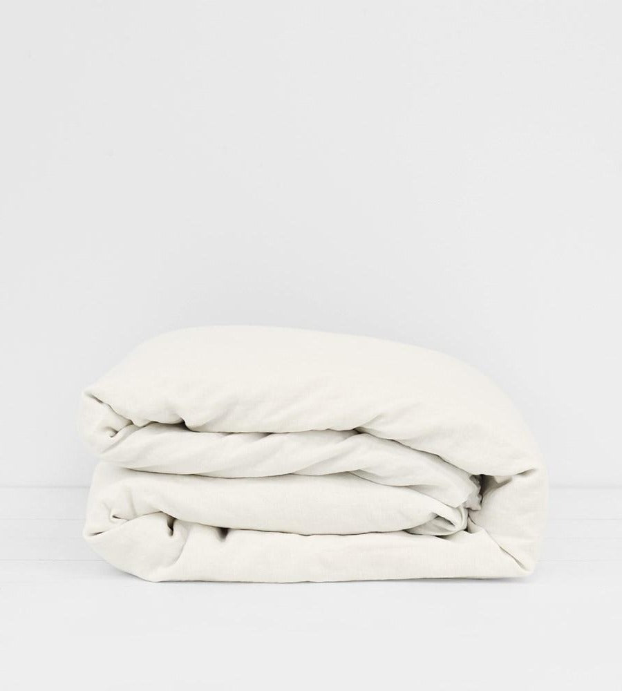 Father Rabbit | Linen Duvet Cover | Cream