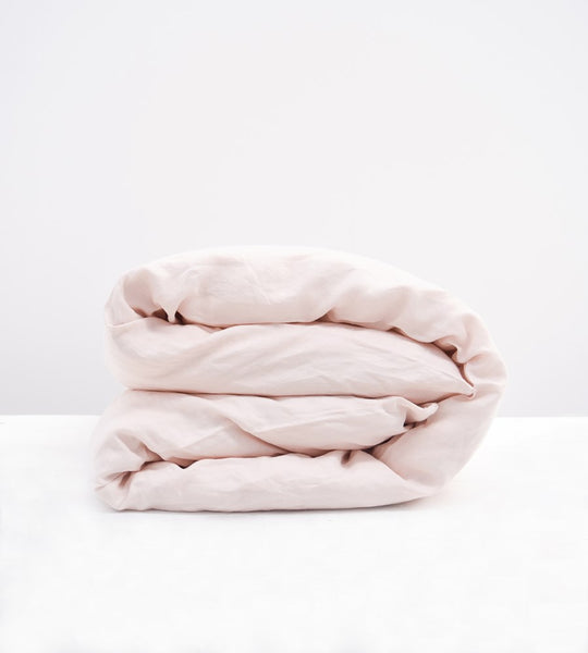 Father Rabbit | Linen Duvet Cover | Shell