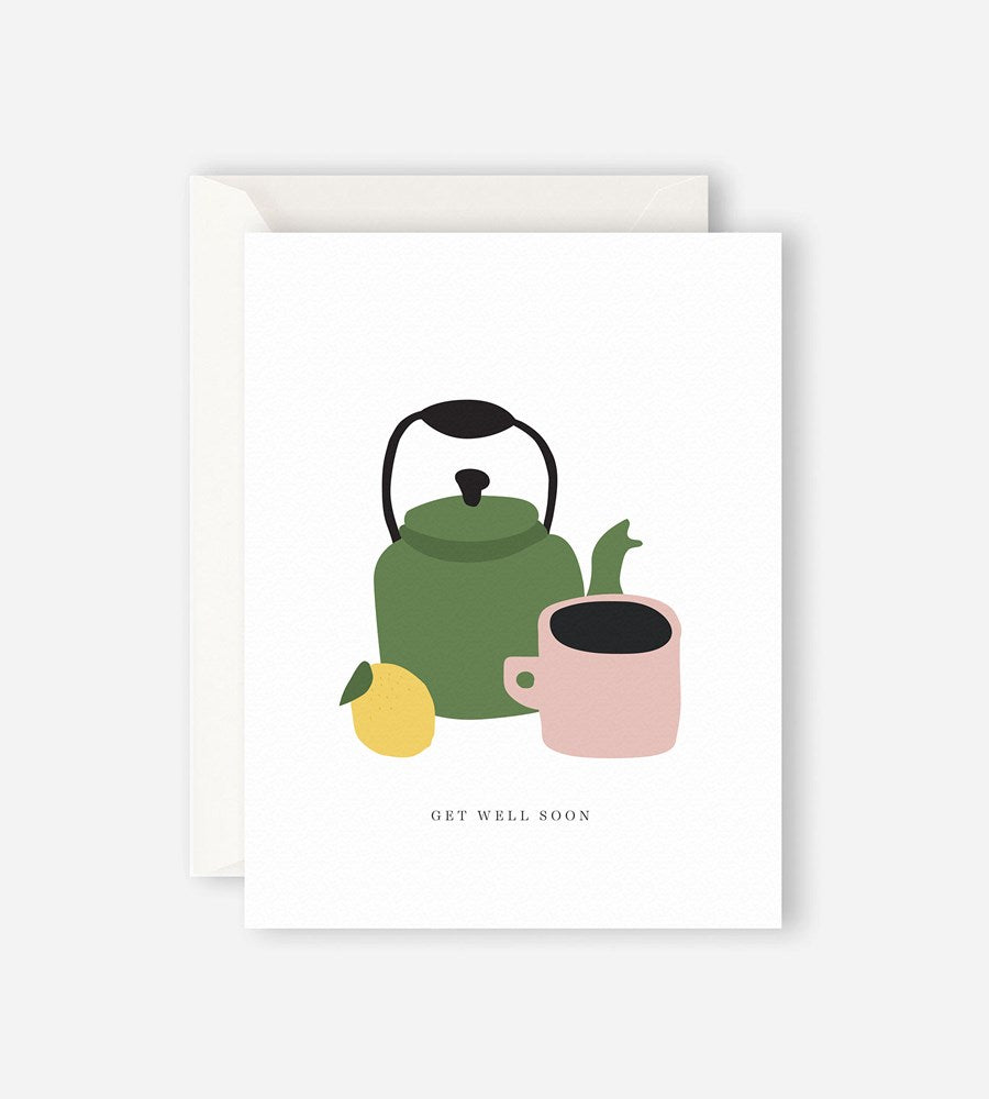 Father Rabbit Stationery | Get Well Soon Teapot Card