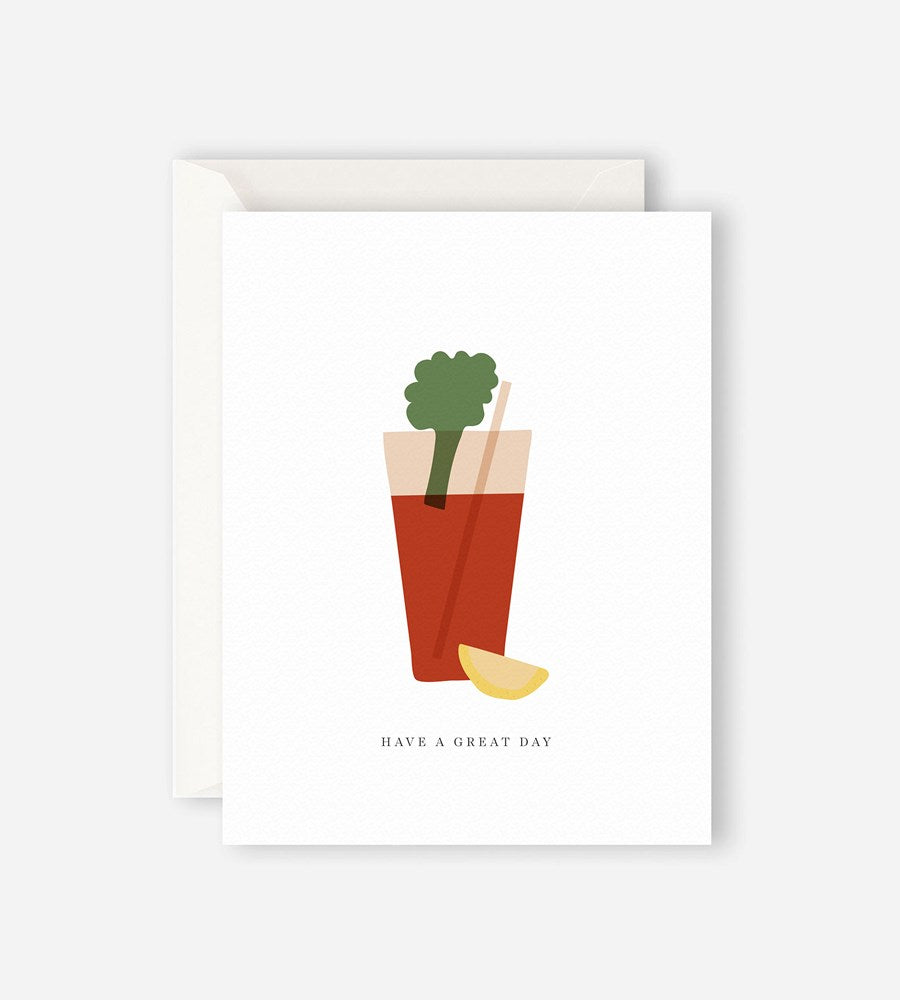 Father Rabbit Stationery Bloody Mary Card