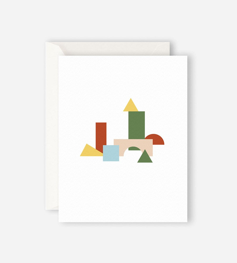 Father Rabbit Stationery City Blocks Card