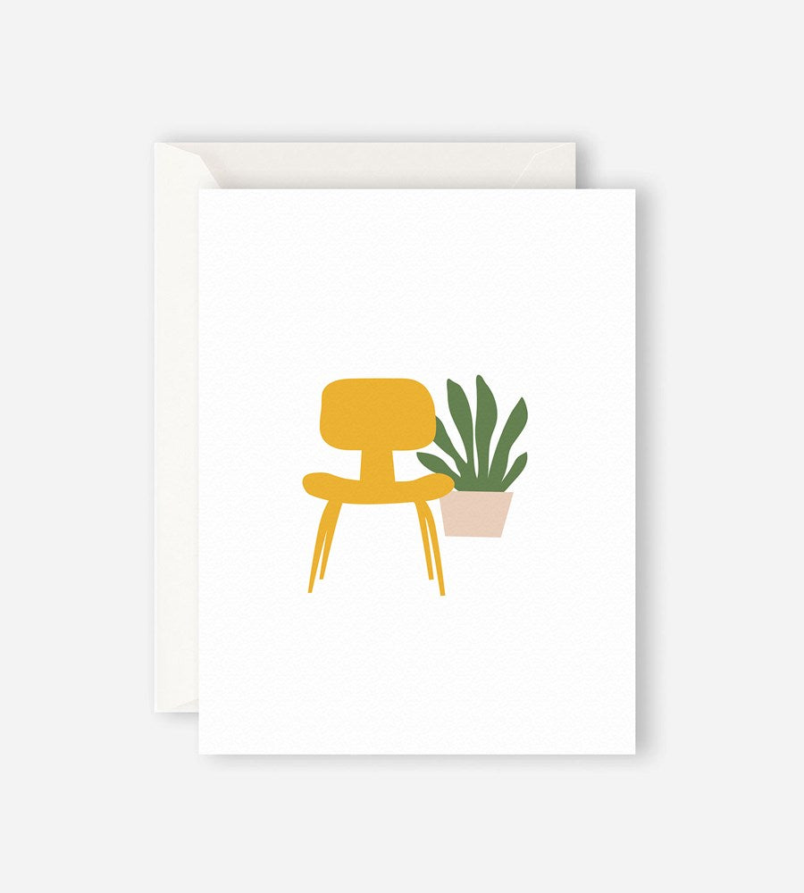 Father Rabbit Stationery Yellow Chair Card