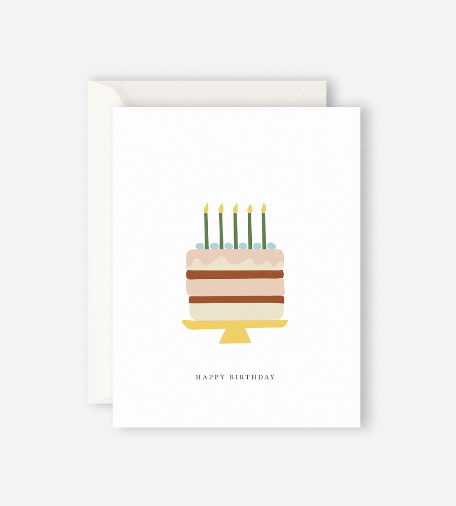 Father Rabbit Stationery | Happy Birthday Cake Card