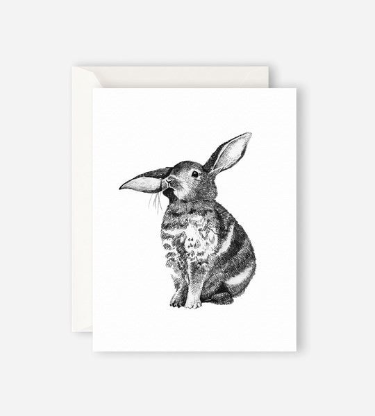 Father Rabbit Stationery Bunny Card