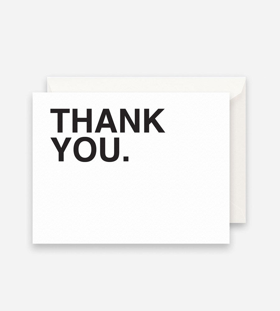 Father Rabbit Stationery Bold Thank You Card