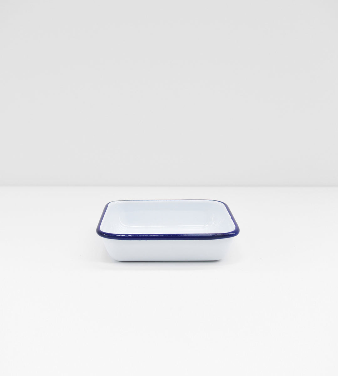 Traditional Enamel | Square Soap Dish