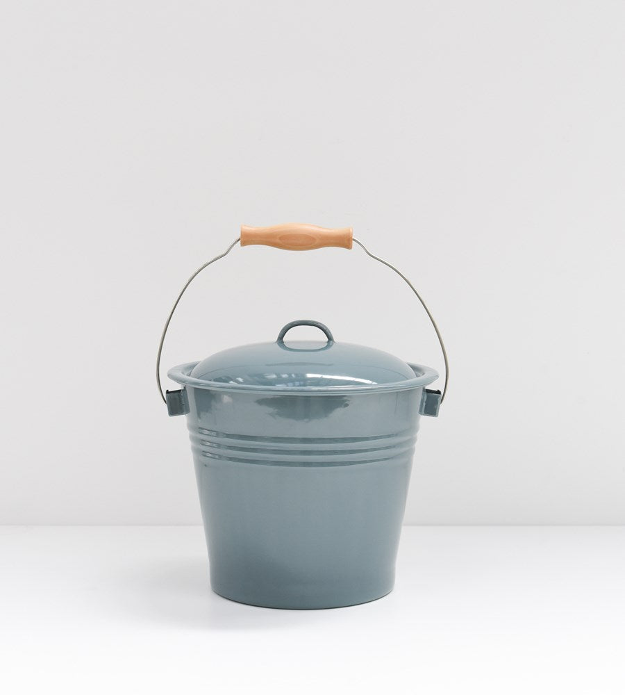 Grey Enamel | Bucket with Lid