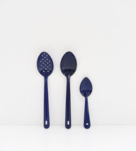 Cobalt Enamel Serving Spoon