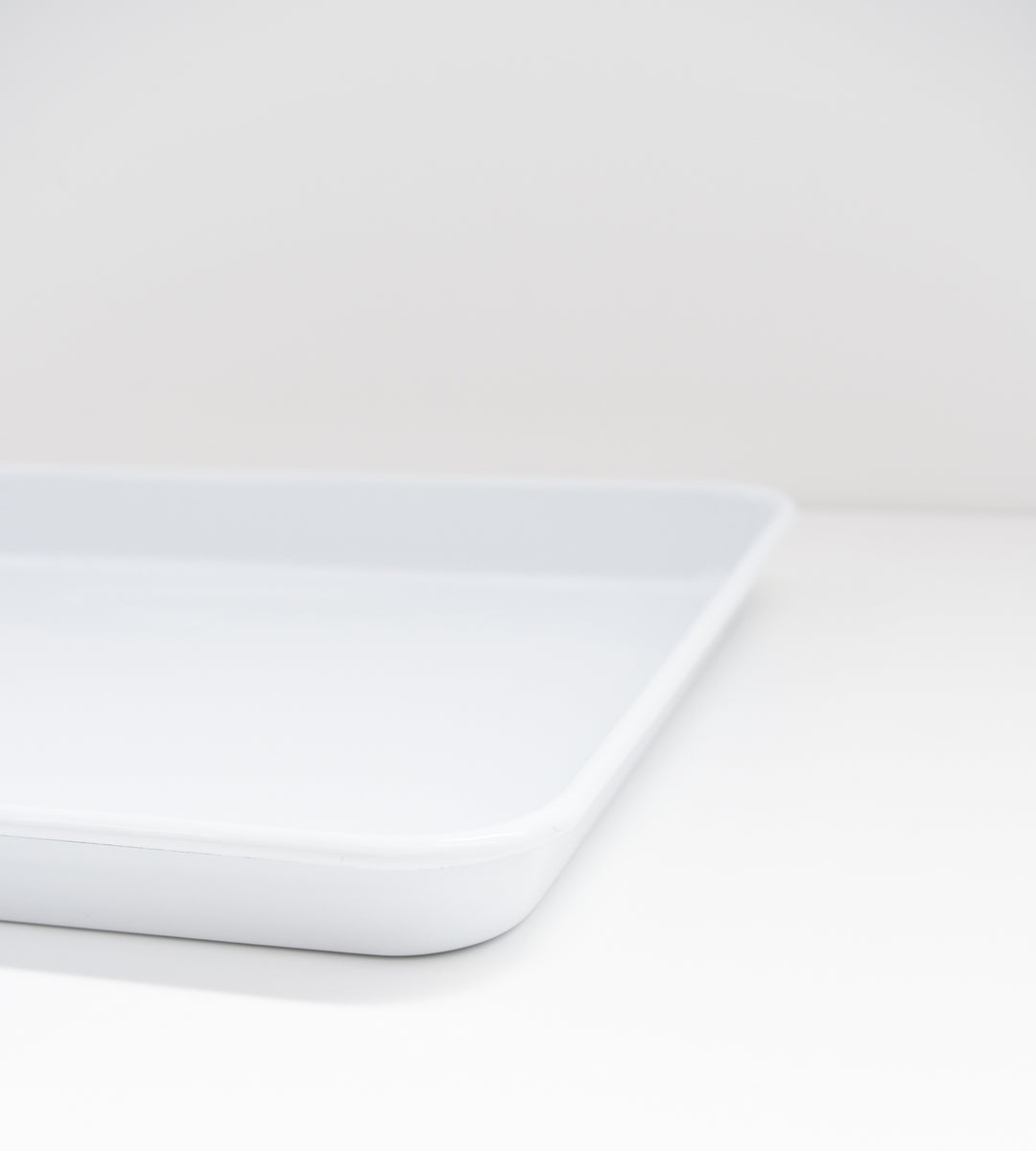 Falcon White Enamel Rectangular Tray