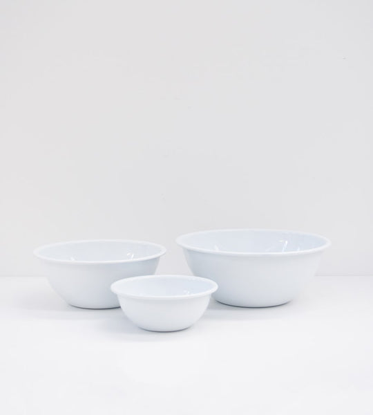 White Enamel | Mixing Bowl Set